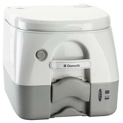 Dometic Grey w/Brackets Portable Toilet 2.6 Gallon - Tank Level Indicator