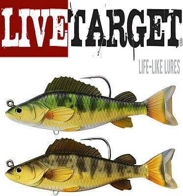 "Livetarget Yellow Perch Swimbait 5 1/2"" Select Colors Bass Fishing Lure Bait"