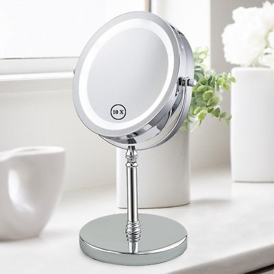Vanity Mirror with Lights 10x magnifying makeup mirror Cosmetic Table Top HD