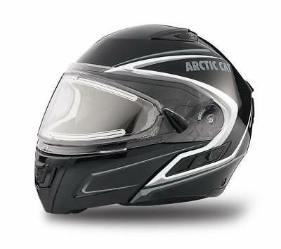 Arctic Cat Snow Products Modular Helmet with Electric Shield Black (SIZE M)