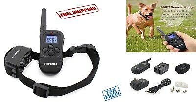 Dog Shock Training Collar Rechargeable Waterproof Remote 330 Yard Electric LCD
