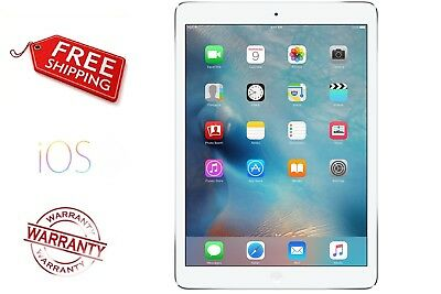 Apple iPad Air 32GB, Wi-Fi + Cellular 9.7in  White/ Silver Tablet FREE Shipping
