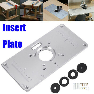 Kreg router table insert plate w level loc rings predrilled for 700c router table insert plate4 rings screws set for woodworking benches alloy greentooth Image collections
