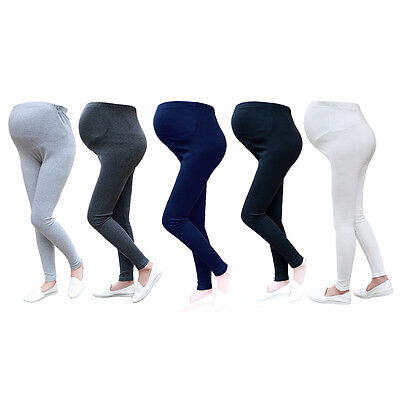 Maternity Soft Cotton Leggings Thick Heavy Full Ankle Length Pregnancy XL 2XL