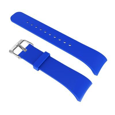Silicon Strap Wrist Band Holder For Samsung Gear Fit2 R360 R365 Watch Blue