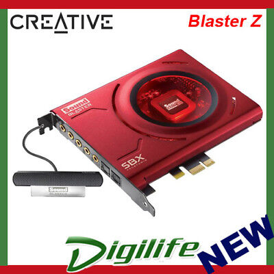 CREATIVE Sound Blaster Z PCIe Gaming Sound Card Microphone Dolby Audio 116dB SBX