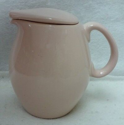 RUSSEL WRIGHT china IROQUOIS Casual PINK pattern 32-Ounce Pitcher with Lid