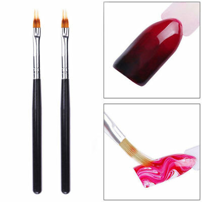 1PC UV Gel Nail Art Pen Brush/Sponge Wooden Handle Pro DIY Manicure Drawing Tool