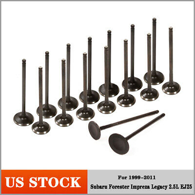 Fits 99-11 Subaru Forester Impreza Legacy 2.5L EJ25 Intake&Exhaust Engine Valves