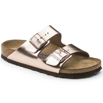 Birkenstock Leather ARIZONA Metallic Copper SOFT FOOTBED BNIB 752721 752723