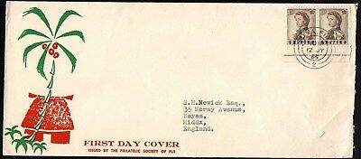 Fiji Qe Ii Definitive Stamp Fdc First Day Cover 1965 X43.95