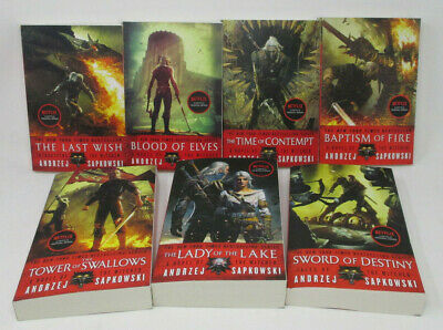 WITCHER Series LARGE PAPERBACK Collection Set Books 1-7 by Andrzej Sapkowski