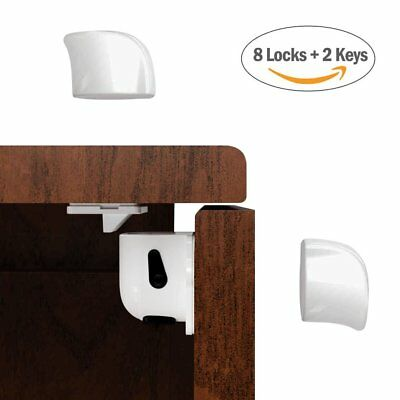 Magnetic Cabinet Locks Child Safety - Baby Proof Drawers - No Tools Or Screws