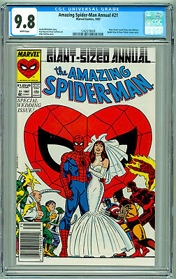 Amazing Spider-Man Annual #21 CGC 9.8 NM/M White Pages *Newsstand Edition*