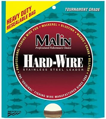 (130kg/.035-Diameter) - Malin Stainless Steel 13m Wire. Brand New