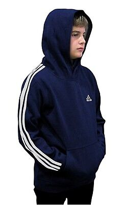 (Youth Large 14/16, Fleece Pullover Hoodie, Navy/White) - adidas Youth Fleece