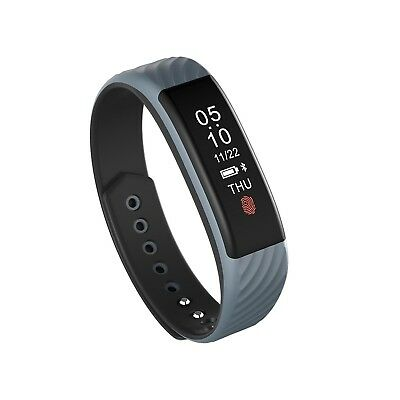 (gray) - Fashion Bluetooth Health Monitoring Heart Rate Bracelet Sleep IP67