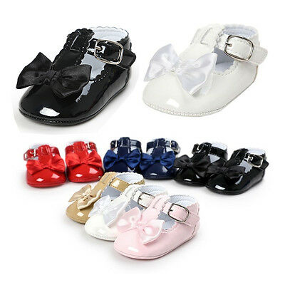New0-18 Baby shoes Infant Girls Soft Sole Toddler PU Leather Crib Shoes Footwear