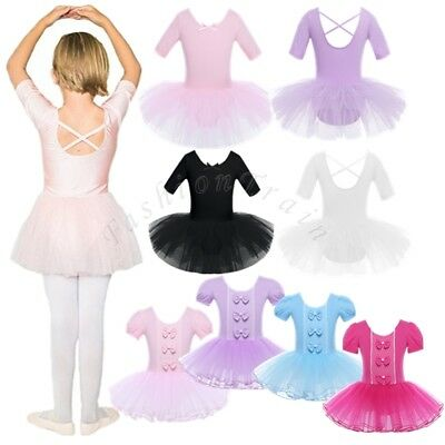 Toddler Girl Ballerina Dance Dress Ballet Tutu Skirt Leotard Dancewear Costume