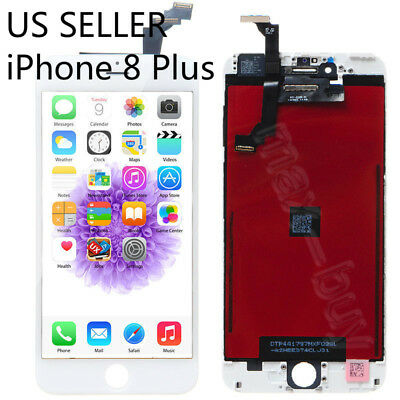 LCD Touch Screen Display Digitizer Assembly Replacement for iPhone 8 Plus White