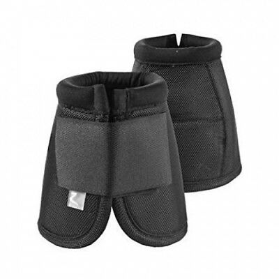 (XX-Large, Black(BL)) - Horze Strong Denier Ulti Comfort Overreach Bell Boot,