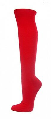 (Medium, Red) - COUVER Premium Quality Knee High Sports Athletic Baseball