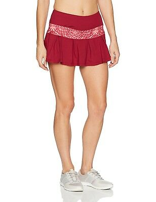 (X-Small, Ruby/Flyaway Print) - Skirt Sports Women's Lioness Skirt. Brand New