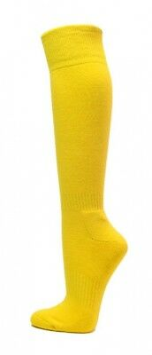 (Medium, Bright Yellow) - COUVER Premium Quality Knee High Sports Athletic