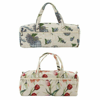 Household Woven Fabric Craft Tote Bag Knitting Needles Sewing Tools Organizer im