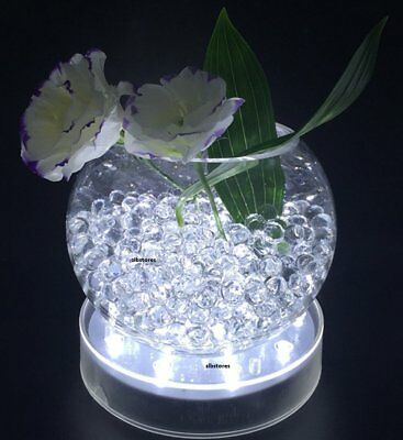 """Light Plate 4"""" Clear Round-15 LED Light by SLBSTORES battery powered pedestal"""