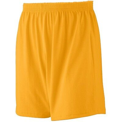 (Small, Gold) - Augusta Sportswear BOYS' JERSEY KNIT SHORT. Delivery is Free