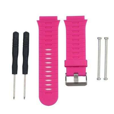 (Pink) - HWHMH Soft Adjustable Silicone Replacement Wrist Watch Band for
