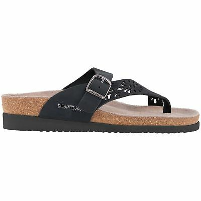52dd99863645 MEPHISTO HELEN PERF Black Womens Nubuck Open-back Toe-post Thong Sandals -   97.41