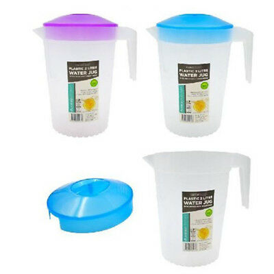 Plastic Water Jug Jugs with Colr Lid 2L Water Pitcher Fridge BPA FREE Restaurant