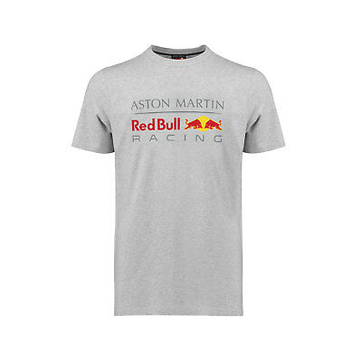 Herren T-Shirt Large Logo Grau Aston Martin Red Bull Racing F1 2018 L