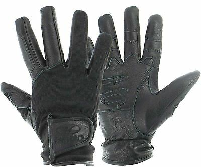 Highlander Special Ops Tactical Combat Leather Gloves Military Shooting Black