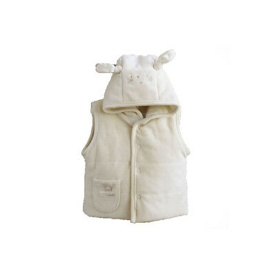 Natures purest Cream Pure Love Girls Padded Gilet 0-3 Months (9084A)