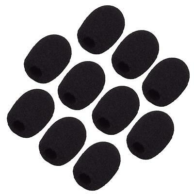 10 Pcs Practical Small Black Headset Microphone Windscreen Sponge Foam Mic Cover