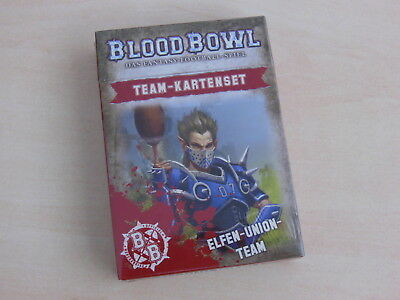 Blood Bowl Teamkarten Elfen-Union-Team *Neu* Deutsch Team-Kartenset