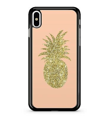 Fresh Golden Radiant Pineapple Juicy Tropical Exotic Fruit 2D Phone Case Cover