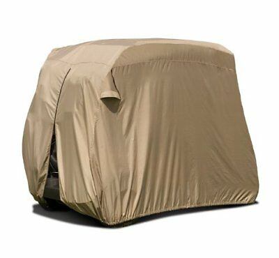Classic Accessories Tan Weather Resistant 4-Person Fairway Golf Cart Cover