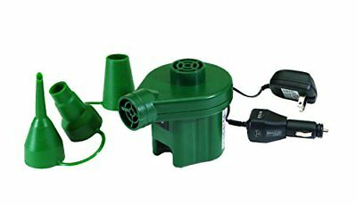 Texsport Electric Air Pump Inflates Deflates uses AC Power,12 Volt Car Charger
