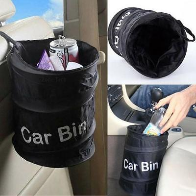 Pop-Up Car Trash Garbage Can Waste Dust Bin Storage Box Wastebasket New D