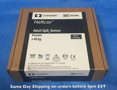 Nellcor Covidien DS100A Adult SpO2 Sensor - Original Packing - Same Day Shipping