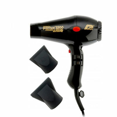 PARLUX 3200 Compact Hair Dryer - Black - Ceramic and Ionic Edition