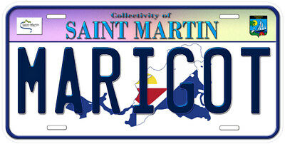 Saint Martin Any Text Personalized Novelty Aluminum Car License Plate