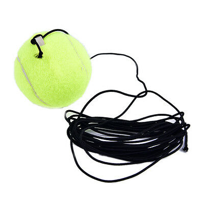 Exercise Sports Tennis Training Ball With String Rope Trainer Train Tool Uu