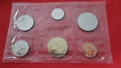Canadian Canada 1989 Uncirculated Mint Coin Set Of 6