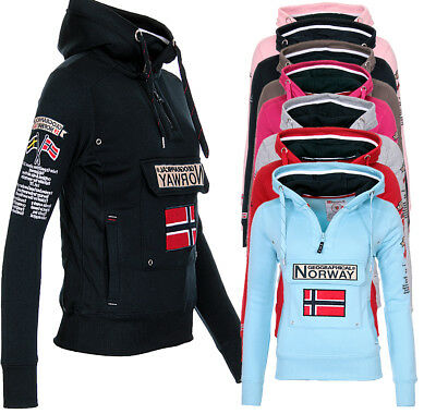 Geographical Norway griana Hoodie sweatjacke veste pull tricot veste s-xxl