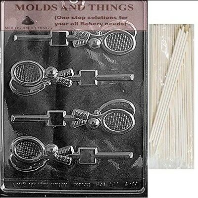 TENNIS RACQUET LOLLY Chocolate Candy Mould With © Moulding Instruction + 50